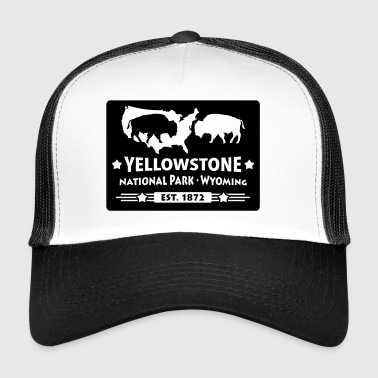 Bison Buffalo Park Narodowy Yellowstone Wyoming USA - Trucker Cap