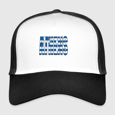 Athens Greece Flag - Trucker Cap