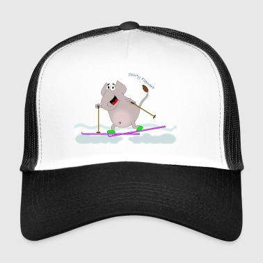 Sporty elefant - langrend - Trucker Cap