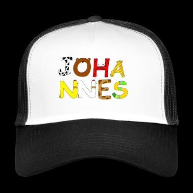 Name Johannes with animal letters - Trucker Cap
