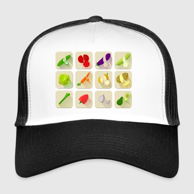 paprika chilli chili pepper citrus veggie vegetable - Trucker Cap