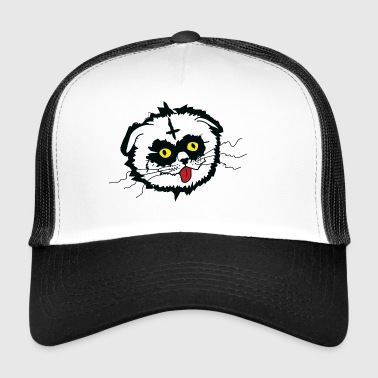 Cat Black Metal Derp - Trucker Cap