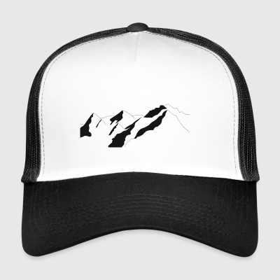 Mountain landscape outline - Trucker Cap