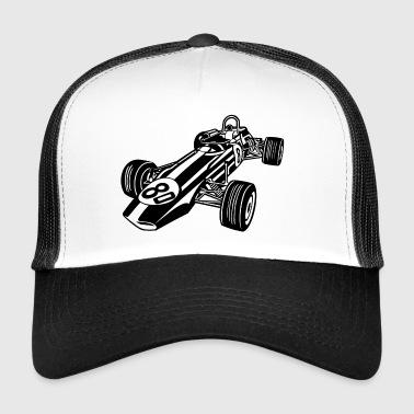 Race Car / Race Car 02_black - Trucker Cap