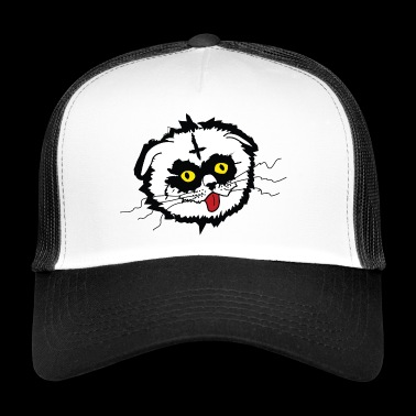 Black Metal Derp Cat - Trucker Cap