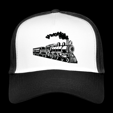 Locomotive / Locomotive 02_black white - Trucker Cap