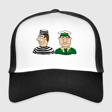 Police officer thief convict burglar uniform - Trucker Cap