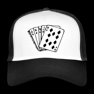 Poker carta di mano royal flush - Trucker Cap