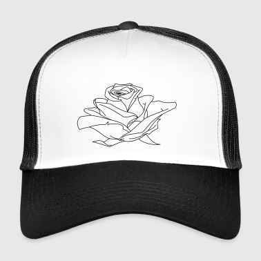 Rose Illustration - Trucker Cap
