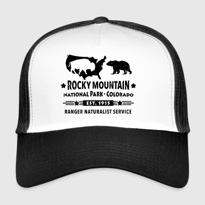 Rocky Mountain National Park Mountain Bison Grizzly Bear - Trucker Cap
