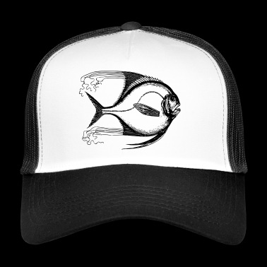 exotic fish drawing gift - Trucker Cap