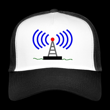 Radio radio tower waves communication - Trucker Cap