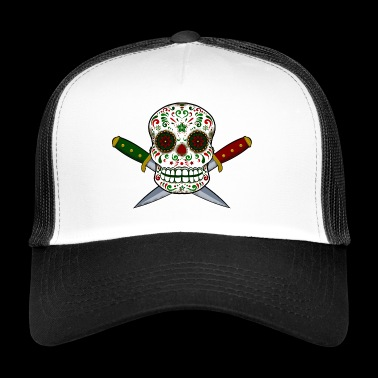 Mexican skull and daggers. Day of the Dead - Trucker Cap