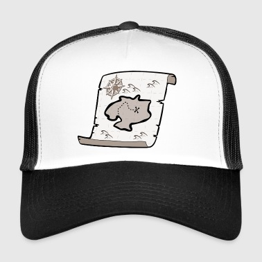 treasure map - Trucker Cap