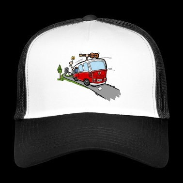 Hippie Van Bus - Trucker Cap
