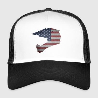 Downhill kypärä USA - Trucker Cap