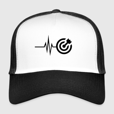 My heart beats for darts - Bullseye darts - Trucker Cap