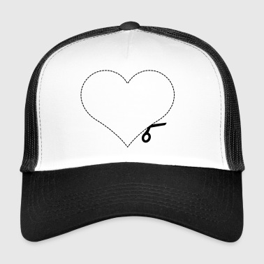 Heart cut out love - Trucker Cap