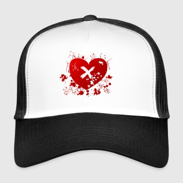love rune for sex magic hearth blood splatter - Trucker Cap