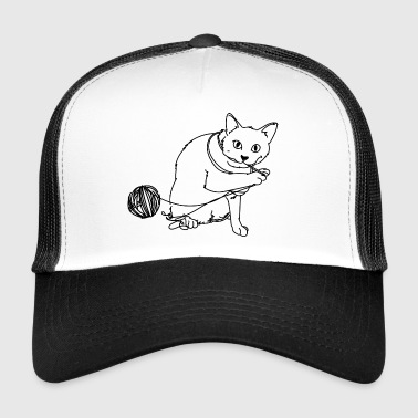 Cat with wool - Trucker Cap