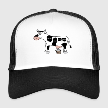 Cow cows milk milking farm cattle cattle farmer - Trucker Cap