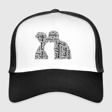 Kissing couple wedding love bride groom kiss - Trucker Cap