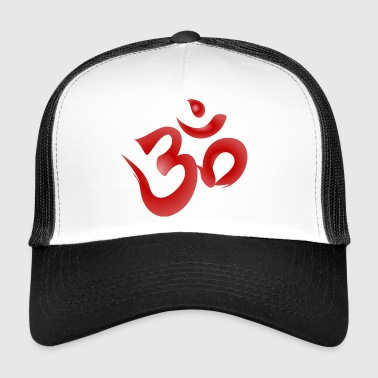 Om Symbol - Red - Trucker Cap