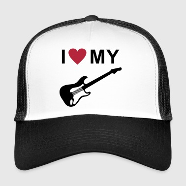 I love my guitar - Trucker Cap