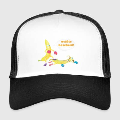 Boxende Bananen Bananas Banana Kampfsport fight - Trucker Cap