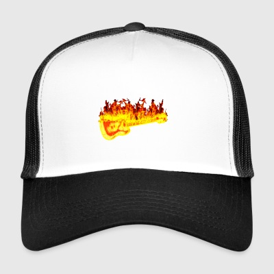 fire guitar - Trucker Cap