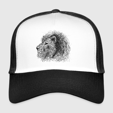 Lion Scribble - Trucker Cap