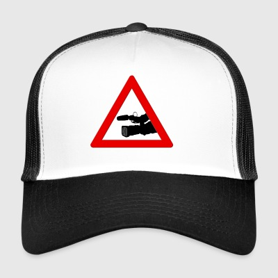 Warning triangle with camera - Trucker Cap