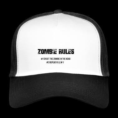 Zombie: Zombie Rules - # 1 The Zombie In The - Trucker Cap