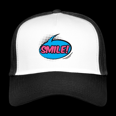 Pop Art / komiksu: Smile! - bąblu - Trucker Cap