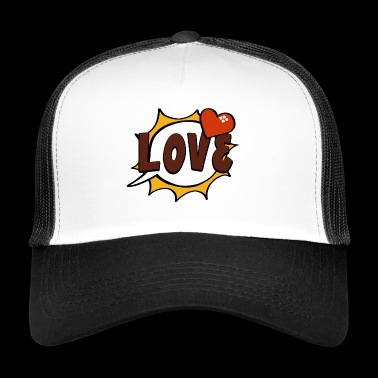 Love Pop-Art Sprechblase - Trucker Cap