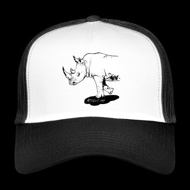 Rhino white - RESCUE ME - Trucker Cap