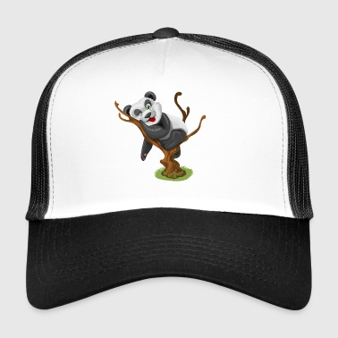 Funny animal design panda bear on tree - Trucker Cap