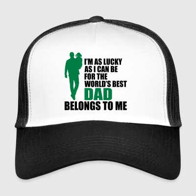 World's best dad fathers day - Trucker Cap