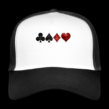 Cross pik check heart - Trucker Cap