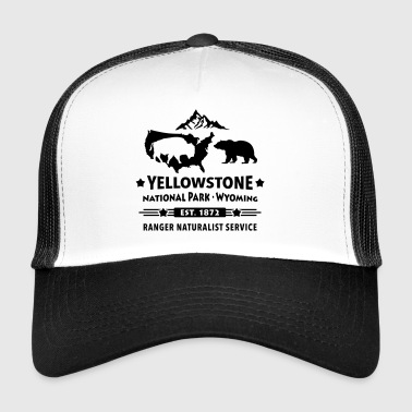 Bison bear Yellowstone National Park Wyoming USA - Trucker Cap