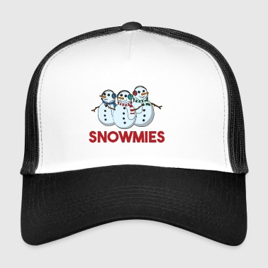 Chillin With My Snowmies Christmas Pun Gift - Trucker Cap