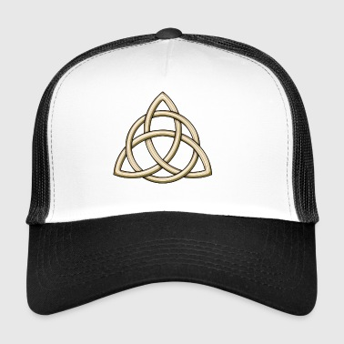 Celtic Trinity Knot Shiny Gold - Trucker Cap