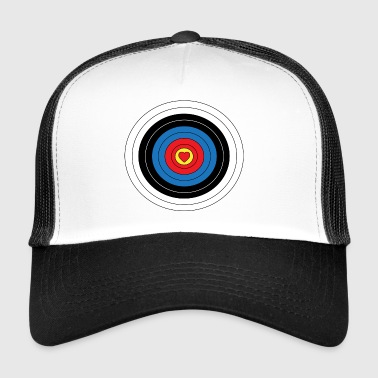 In the middle of the heart Target Love arrow gift - Trucker Cap