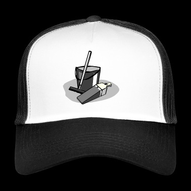 cleaning cleaning cleaning woman broom wischmop31 - Trucker Cap