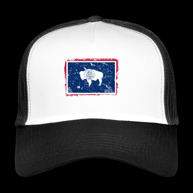 Wyoming Vintage Flag - Trucker Cap