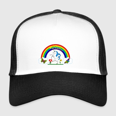 Rainbow Unicorn Logo - Trucker Cap