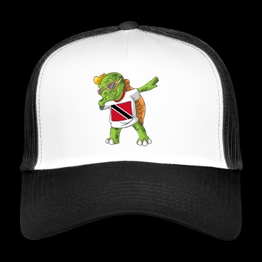 Trinidad and Tobago Dabbing turtle - Trucker Cap