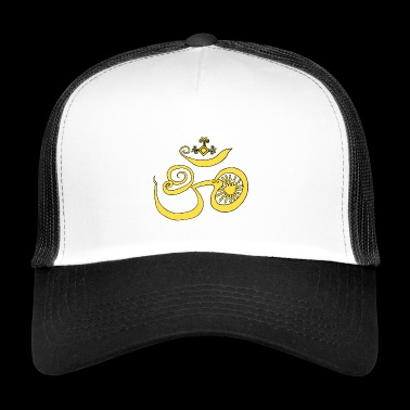 Symbol of Buddhist OM with sun - Trucker Cap