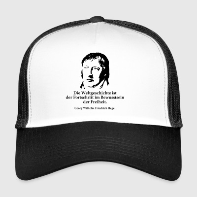 Hegel: World history is the progress in the world - Trucker Cap