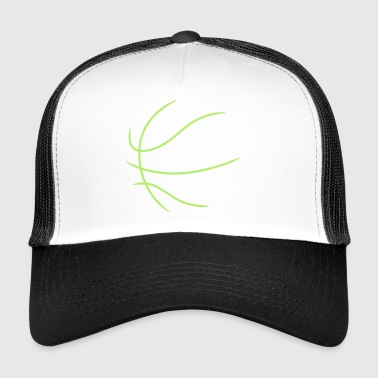 Basketball Outline - Trucker Cap